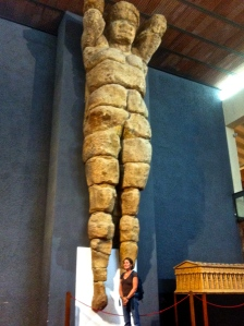 Giant figure that adorned the temple...see model for size reference!