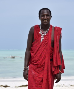 Osiday, a Maasai warrior/security guard.