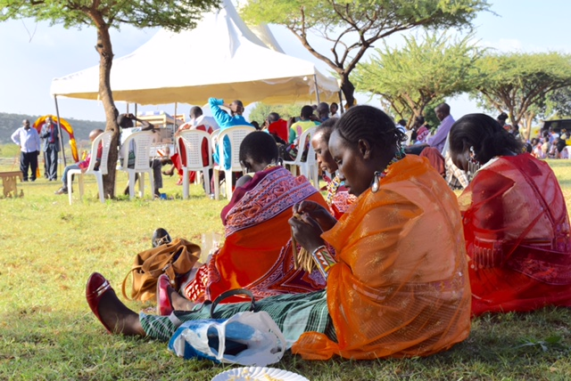 The Maasai women...always beading.