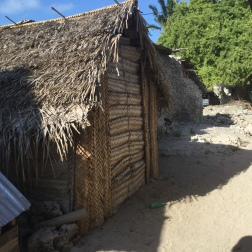 Huts made from woven palm fronds. I love the simplicity of their structures, palm fronds, coral and sticks.